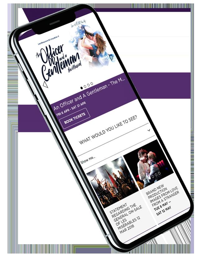 Curve website on iPhone