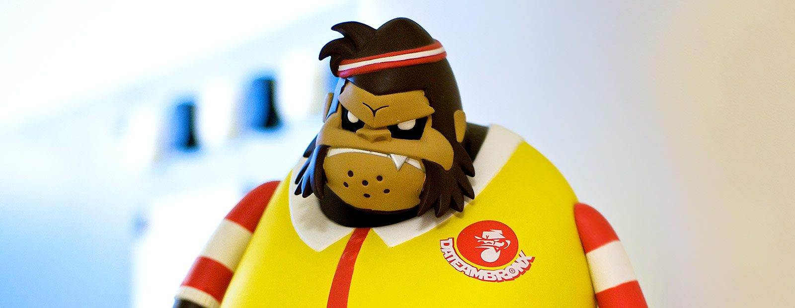 Toy Gorilla rocking yellow