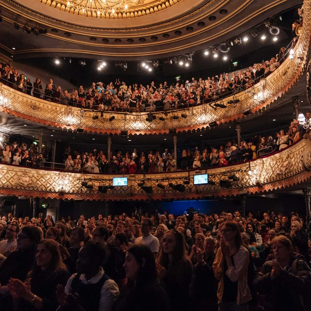 The Old Vic theatre crowd
