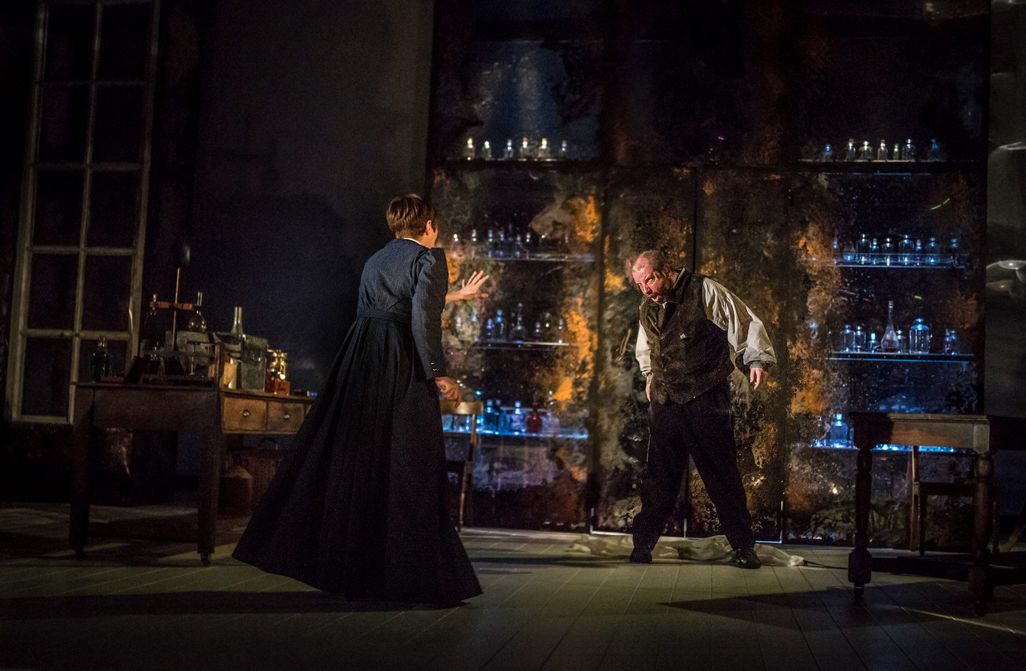 Performance of Dr Frankenstein at the Curve Theatre