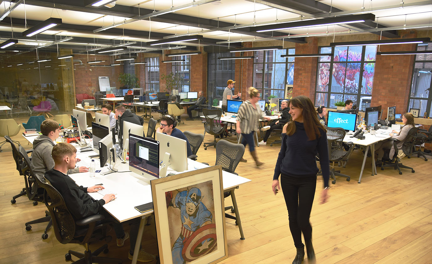 Inside the effect office, Charles Street, Leicester